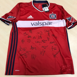 44c8fe4f5 Autographed Chicago Fire Jersey. Autographed by the entire 2017 team  including Bastien Schweinsteiger!   Priceless